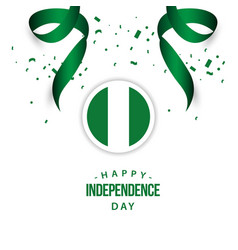 Happy nigeria independence day template design vector