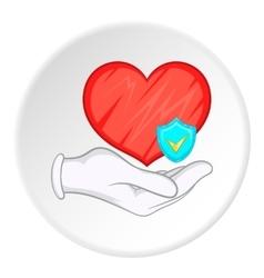 Health protection icon cartoon style vector