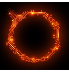 Hot circuit board vector