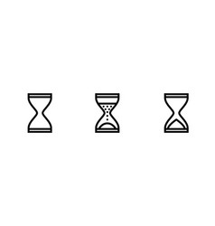 hourglass sandglass glass clock icons vector image