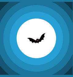 Isolated bat flat icon superstition vector