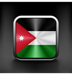 Jordan icon flag national travel icon country vector image