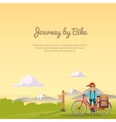 Journey bike vector