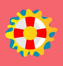 Lifebuoy icon - lifesaver isolated preserver life vector