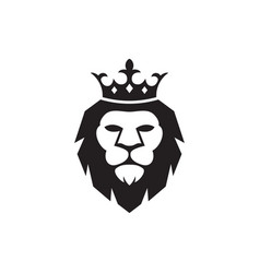 lion king icon design template isolated vector image