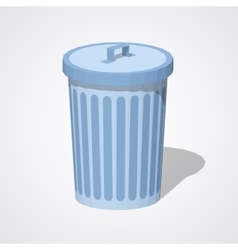 Low poly closed trash can vector image