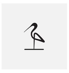 Minimalist flamingo bird modern line logo design vector