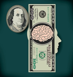 Money Brain Silo vector