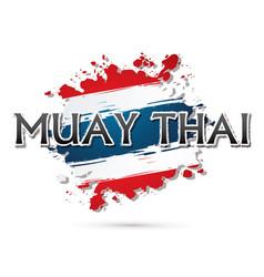 Muay thai font vector