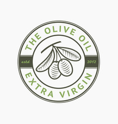 Olive oil extra virgin logo label emblem vector