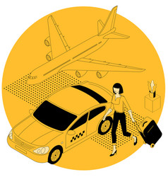 online airport taxi car order vector image