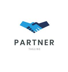 partner logo template handshake icon hand shake vector image