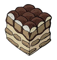 Popular italian dessert tiramisu vector