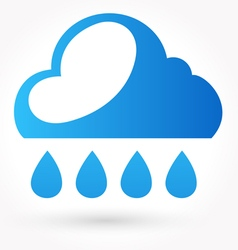 Rain and water drop icon vector image
