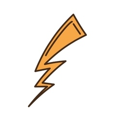 Ray storm climate isolated icon vector