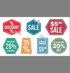 sale banners set scissor line discount vector image