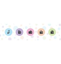 Saving icons vector