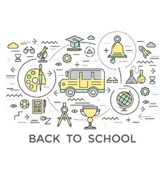 School Education Composition vector