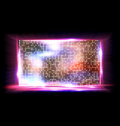screen led light board cinema panel vector image
