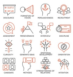 Set of icons related to business management - 24 vector