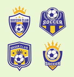Set of soccer football badge logo design template vector