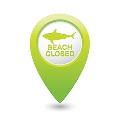 shark icon green pointer vector image