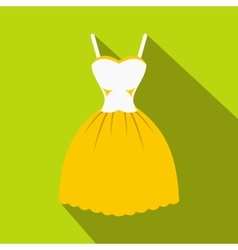Summer dress icon flat style vector image