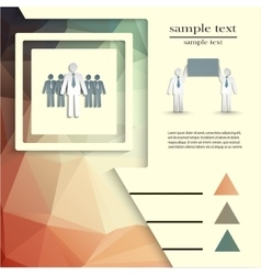 Template for business project or presentation vector