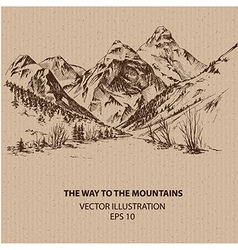The way to the mountains vector