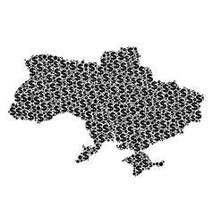 Ukraine map with crimea gdp collage of dollar and vector