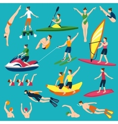 Water Sport And Activities Set vector image