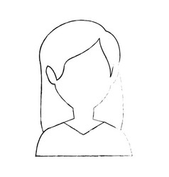 woman faceless head vector image