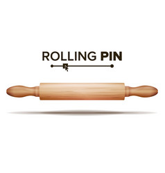 Wooden rolling pin bakery concept vector