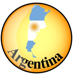button Argentina vector image vector image