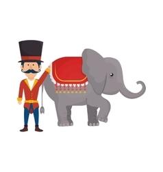 funny elephant circus icon vector image