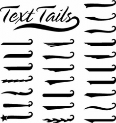 text tails solid vector image
