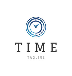 time logo design time concept or clock business vector image vector image