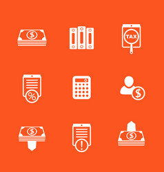 bookkeeping finance icons set vector image vector image