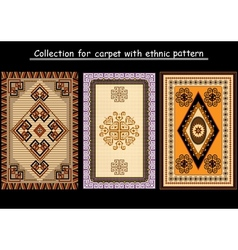 Collection for carpet vector image vector image