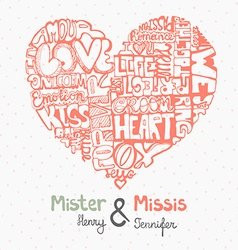 HeartWords8 vector image