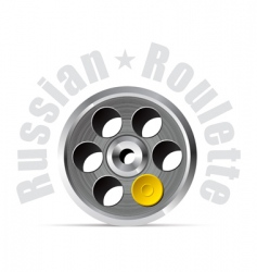 Russian roulette vector image vector image
