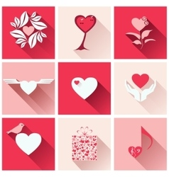 Set icons for romantic events vector image vector image