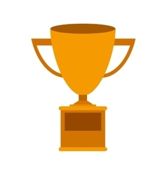 Trophy Cup gold with plate vector image