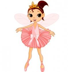 cute fairy ballerina vector image vector image