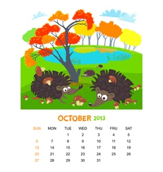 October vector image vector image