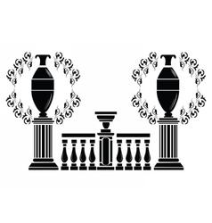 Architectural decorative columns vector