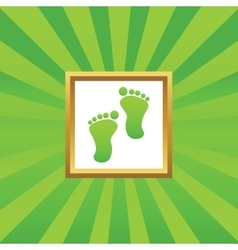 Footprint picture icon vector image vector image