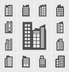 icons building set vector image