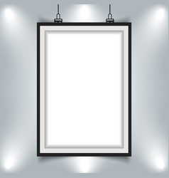 modern picture frame hanging on wall with vector image vector image