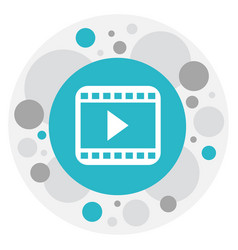 of movie symbol on start video vector image vector image